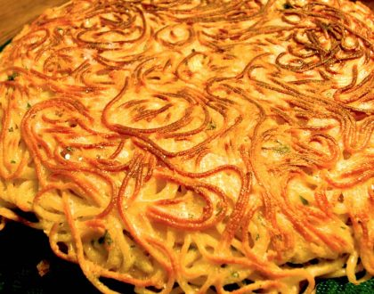 FRITTATA DI SPAGHETTI - PAN FRIED SPAGHETTI CAKE