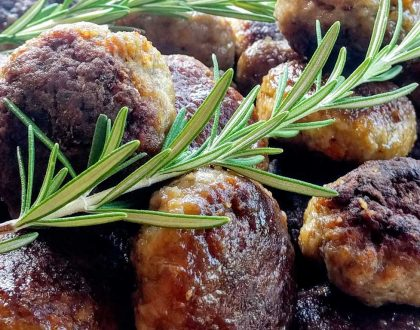 GLAZED MEATBALLS WITH BALSAMIC & WINE