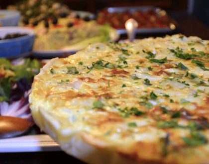 SALTED DRIED CODFISH QUICHE