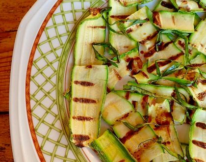 GRILLED ZUCCHINI SALAD WITH FRESH HERBS