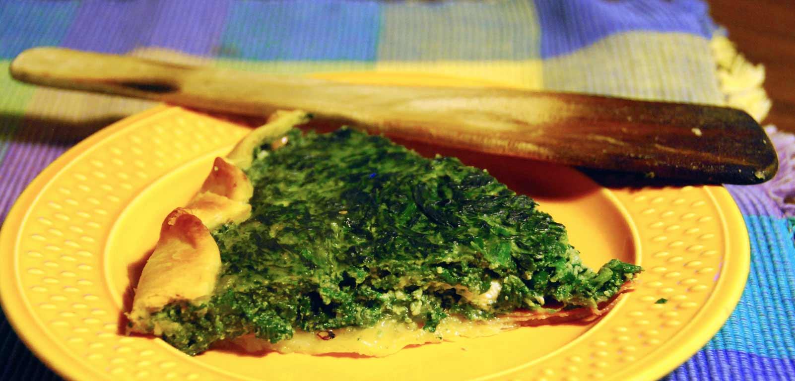 October 10 Class: Spinach Gorgonzola Quiche