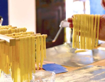 December 5 Class: Homemade Fettuccine & Porcini Cheese Sauce