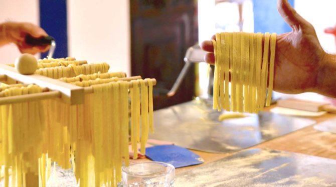 December 5 Class: Homemade Fettuccine & Porcini Cheese Sauce