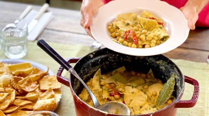 December 11: Chickpea soup with Maltagliati Pasta Class